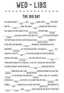 wedding mad libs template free 14 free and printable wedding mad libs the o jays