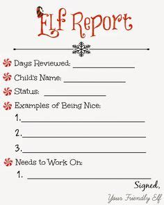 printable elf on the shelf report elf report cards christmas ideas pinterest cards