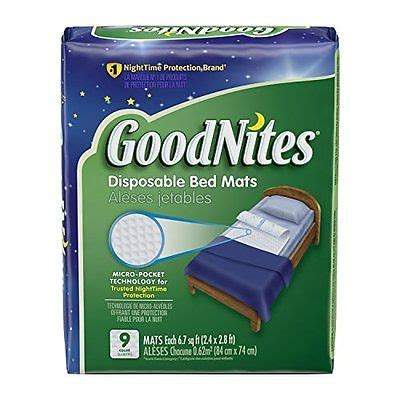 goodnites disposable bed mats brand new goodnites disposable bed mats 36 count what s