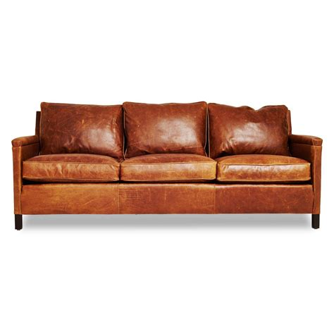 sofa leather irving place heston leather sofa