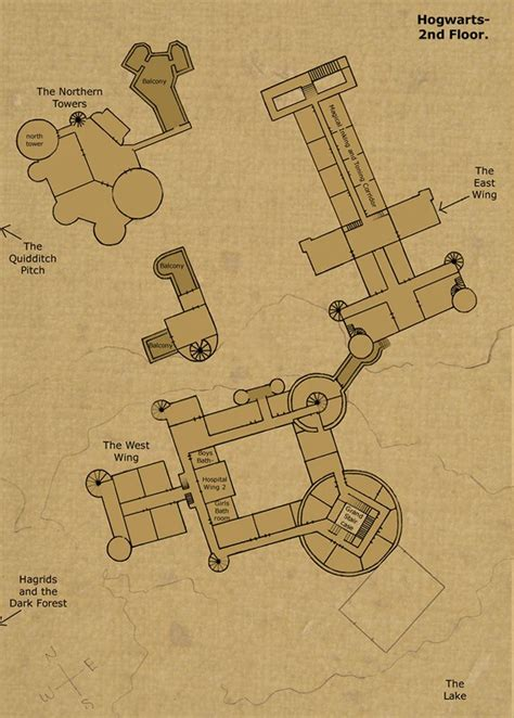Hogwarts Castle Floor Plan | hogwarts castle 2nd floor camelot references pinterest
