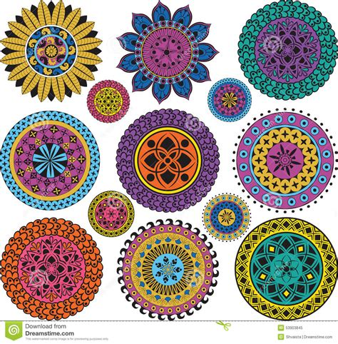 set large and small mandalas stock vector image 53903845