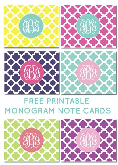 free printable monogram templates fabulous chic free printables