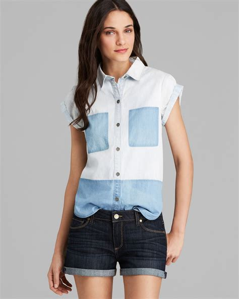 Jean Colors Tops And More Stuff by Shirt Amelia Color Block In White Lyst