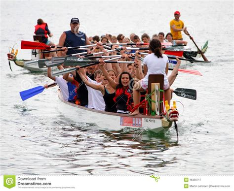 dragon boat zurich dragon boat festival on lake zurich editorial photography