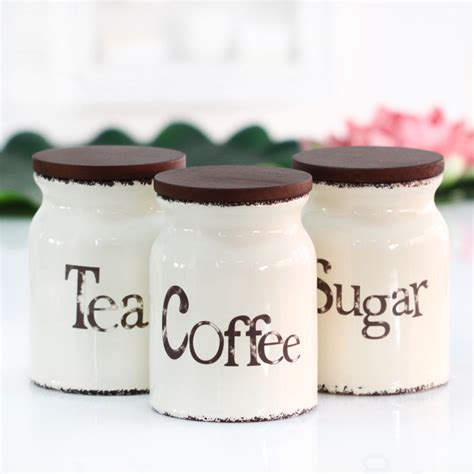 large kitchen ceramic canisters set cookie jar coffee three piece ceramic canister set with wooden lid sealed