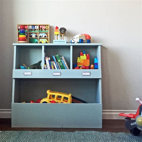 diy storage ana white toy storage bin box with cubby shelves diy