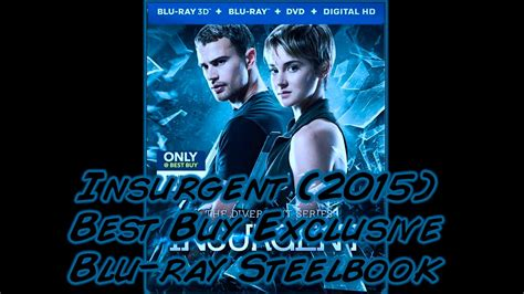 Steelbook Divergent Best Buy divergent series insurgent 2015 best buy exclusive 3d