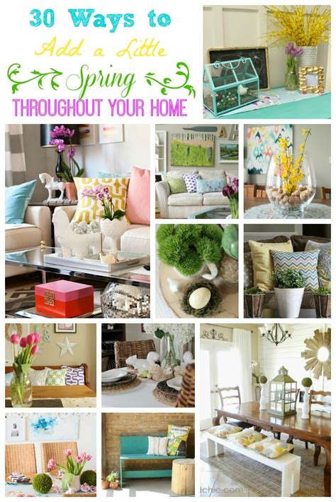 ideas on decorating your home add a little quot spring quot to every room in your house spring