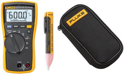 Multimeter Fluke 114 fluke 114 pr digital multimeter with bag and voltage