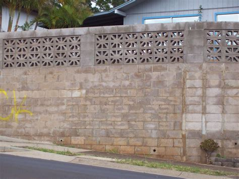 decorative concrete block retaining wall decorative concrete block fence fences ideas
