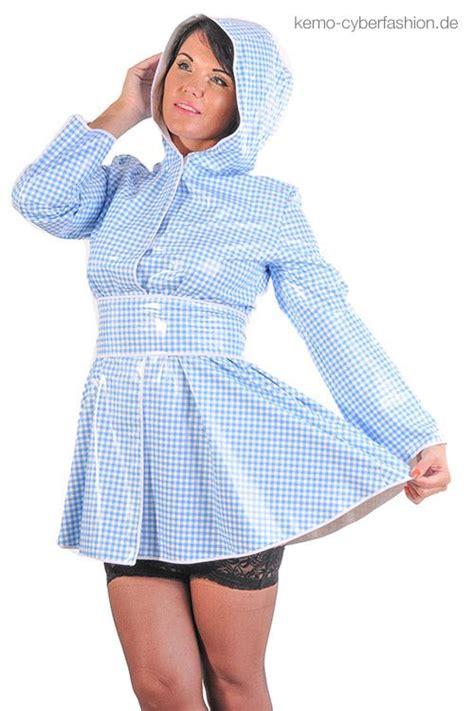 vinyl raincoat pattern new gingham pattern pvc raincoat retro style kemo