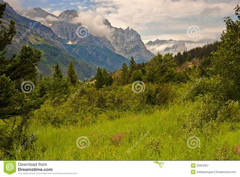 Landscape Photography Glacier National Park Glacier National Park Landscape Montana Royalty Free