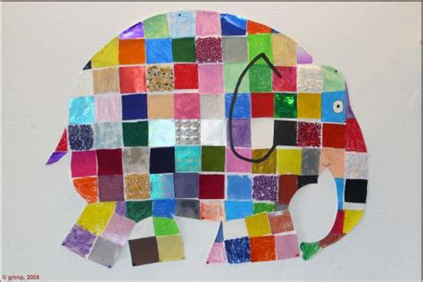 Elmer The Patchwork Elephant Activities - elmer collage 1st grade elephant