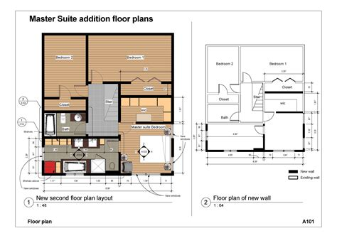 100 floor plans for existing homes gallery of two