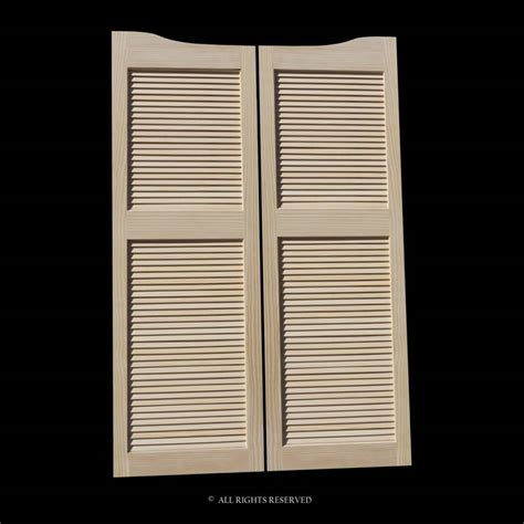 louvered swinging doors full length cafe doors pine louvered 32 quot opening 76 quot tall