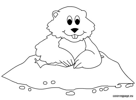 Groundhog 31 Animals Printable Coloring Pages Groundhog Coloring Page