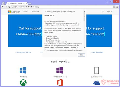Microsoft Official Website Remove 1 844 730 8222 Computervirusalertsystem Today