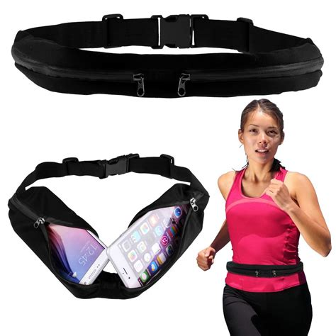 Murah Sweatproof Sport Waist Belt Bag Pouch For Running sport runner zipper pack belly waist bag fitness running bum belt pouch ebay
