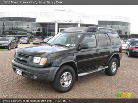 nissan xterra black super black 2000 nissan xterra xe v6 dusk interior