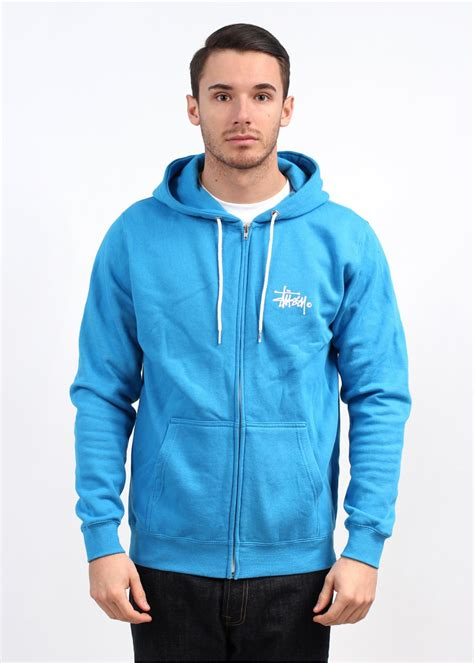 Grosir Basic Jacket Hoodie Unisex With Zipper In 16 Colour stussy basic logo zip hoody blue white