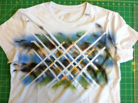 spray painting on clothes transform a shirt using and fabric spray paint