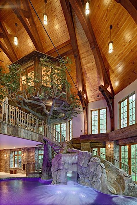indoor house tree lakefront dream home lists with indoor tree house