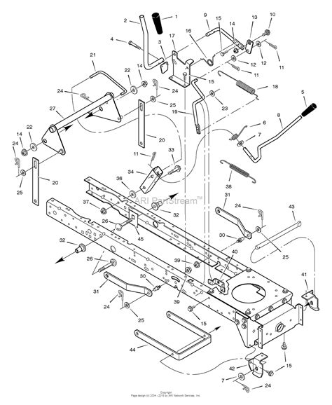 murray mower parts diagram murray 425014x92a lawn tractor 2004 parts diagram for