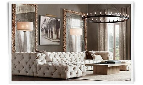 restoration hardware living rooms tufted couch restoration hardware luxe living rooms