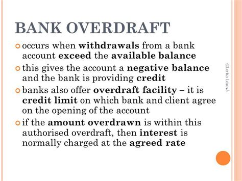 bank overdraft types of bank accounts ppt video online download