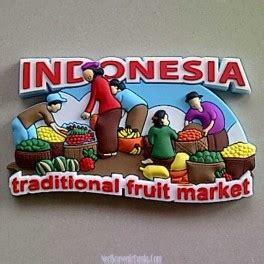 Tempelan Magnet Kulkas Botol Bir jual souvenir tempelan kulkas traditional fruit market indonesia