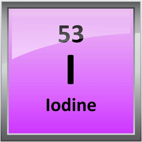 Iodine Periodic Table by 053 Iodine Science Notes And Projects