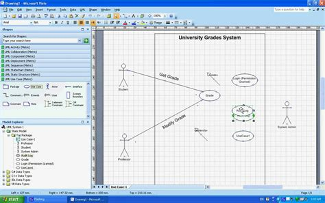 use of microsoft visio use uml diagrams exle understanding creating