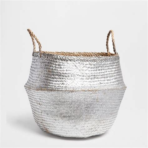 Bit Of Bling For The Washig Days Silver Laundry Basket Silver Laundry