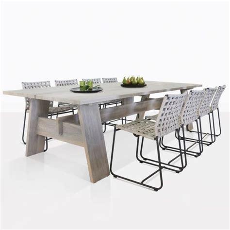 bradford  mayo angle teak dining table patio dining