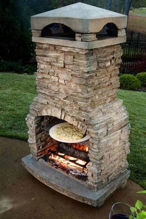 outdoor fireplace pizza oven insert emberside