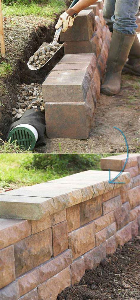 Small Backyard Retaining Wall by 20 Inspiring Tips For Building A Diy Retaining Wall
