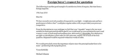 Business Letter Sle Quotation official quotation letter sle 28 images business