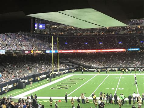Superdome Sections by Superdome Section 145 New Orleans Saints Rateyourseats