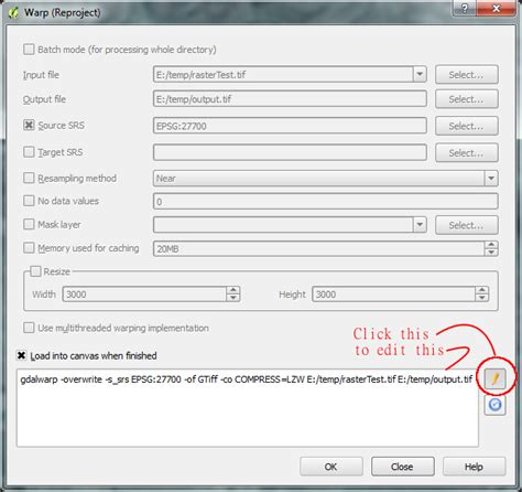 eps format compression vector save map in raster format from qgis using