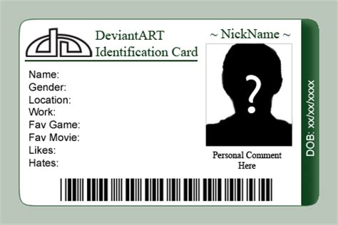 Deviantart Id Card Template By Etorathu On Deviantart Id Badge Template