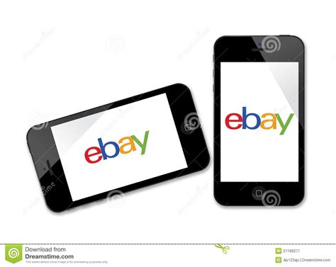 How To Pay With Gift Card On Ebay - ebay logo on iphone editorial photography image 27189277