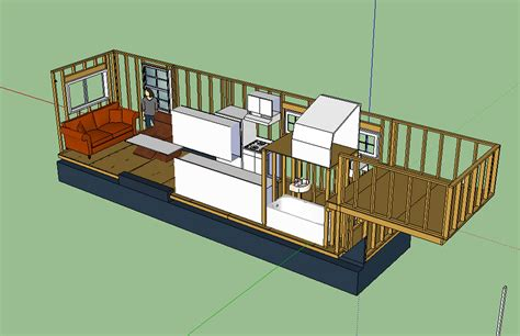 The Updated Layout Tiny House Fat Crunchy Tiny House Plans For A Gooseneck Trailer