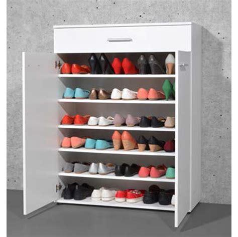 Armoire à Chaussure by Armoire Meuble 224 Chaussures Blanc Avec 2 Portes Et 1