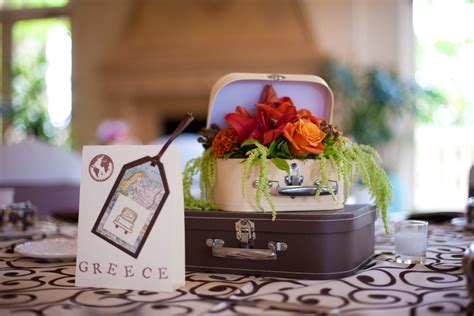 travel themed wedding suitcase centerpieces from the davis wedding 10 03 10 each table was a