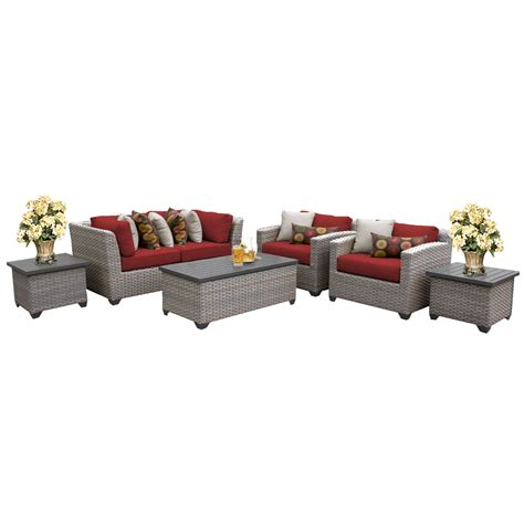 Patio One Furniture 7 Outdoor Wicker Patio Furniture Set 07d 2 For 1