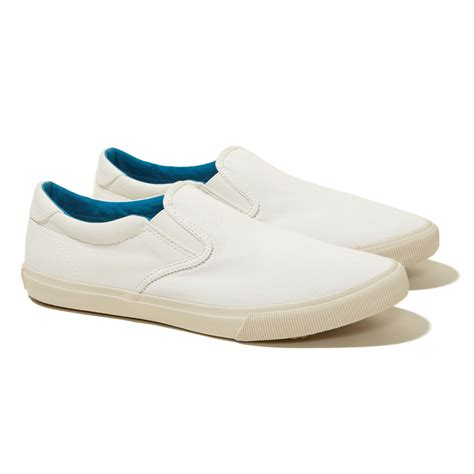 hollister shoes mens hollister slip on sneakers in white for lyst
