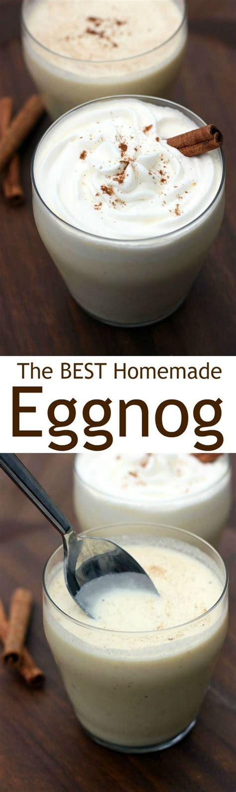 homemade eggnog recipe eggnog treats homemade eggnog