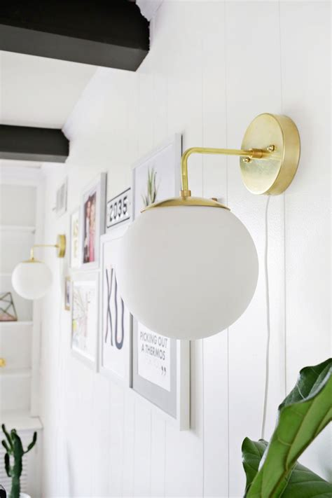 How To Make A Sconce Light Fixture by Brass Globe Sconce Diy A Beautiful Mess