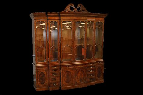 china cabinet with lights antique china cabinet american antique bow front china